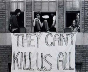 When you're at war, even your own youth become potential enemies.  A sign after the Kent State shootings
