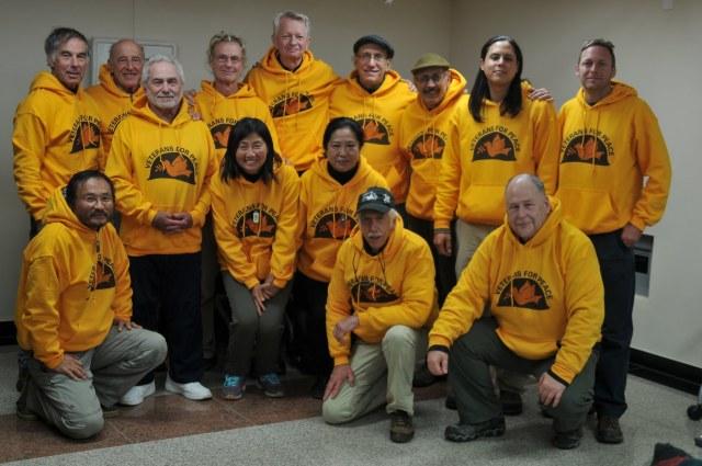 VFP Delegation, Jeju Island, 12/2/15. Photo: Ellen Davidson, VFP